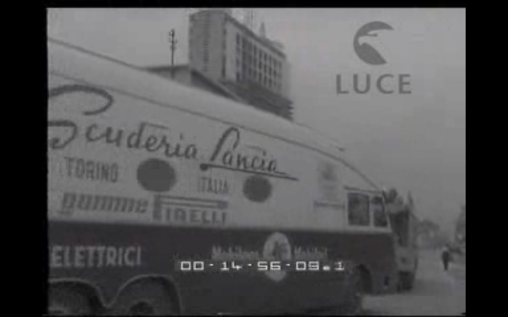 transporter leaving Lancia plant