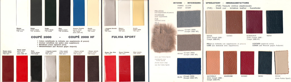 Fulvia color brochure*